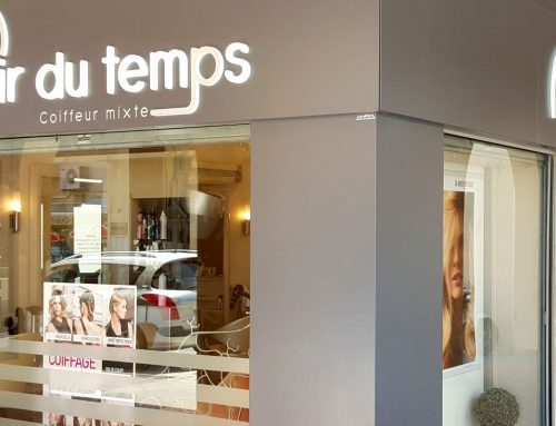 Habillage magasin coiffure